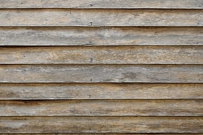 Old Horizontal Wooden House Siding