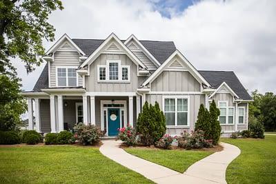 Suburban Home With Many Windows