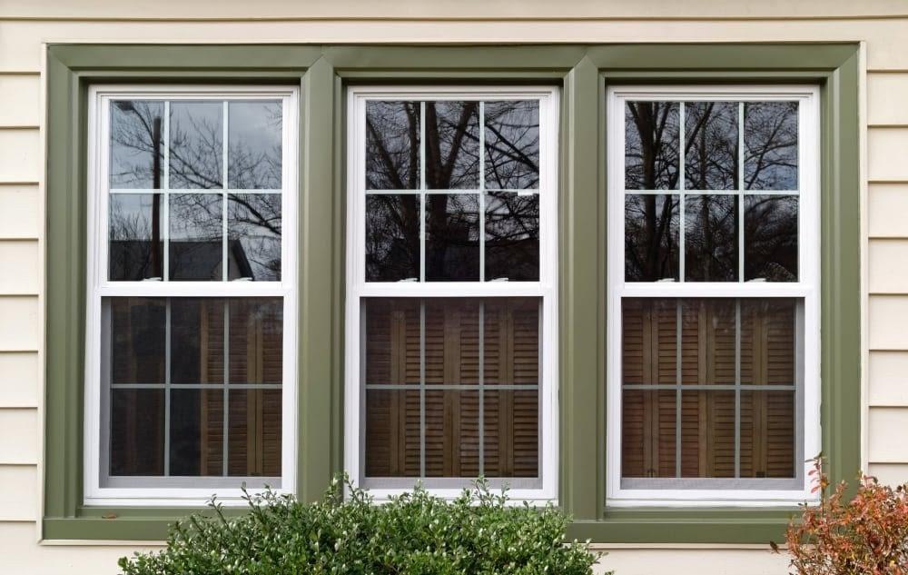 Three Windows On A House