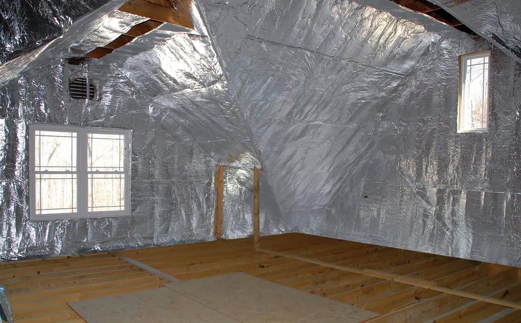 Finished attic insulation