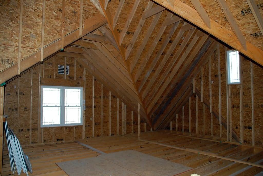Attic before insulation