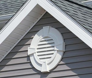 House with gable vent