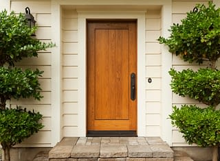 Front door on house