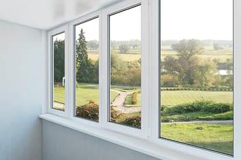 Picture windows overlooking scenery