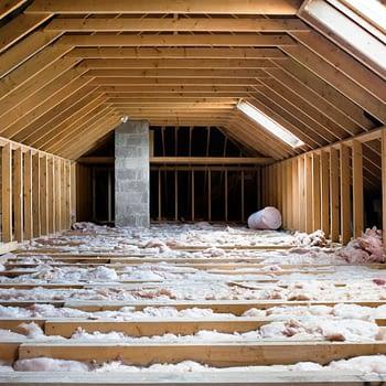 Attic with insulation