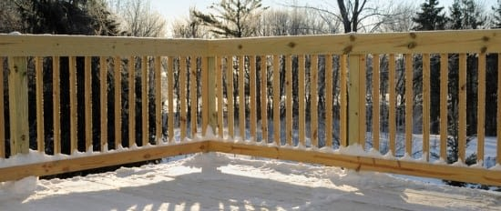 Deck in Winter – New Jersey Siding & Windows