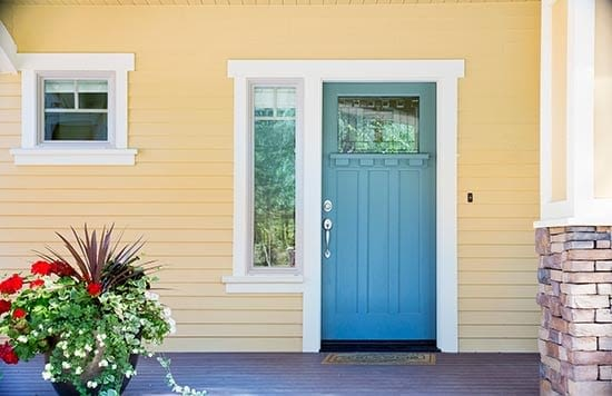 Home with portico - New Jersey Siding & Windows