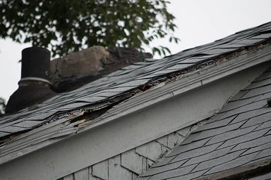 Damaged Roof - New Jersey Siding & Windows, Inc.