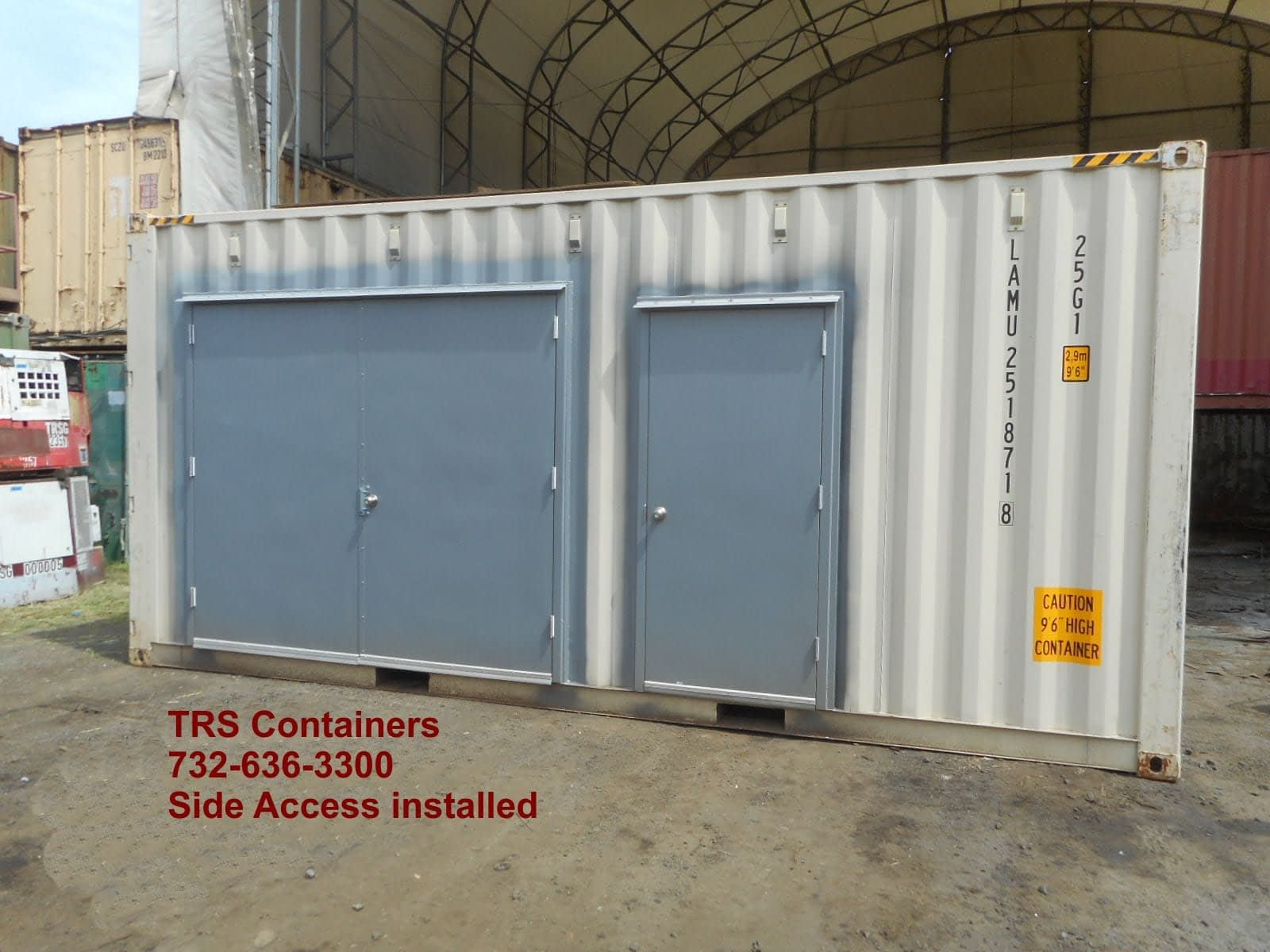Need easy access to a steel shipping container? TRS installs personnel doors in new highcubes