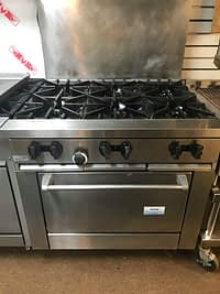 Pre-Owned Garland/ Sunfire X36-6R 6 Burner Range with Standard Oven-Natural Gas-213,000 BTU