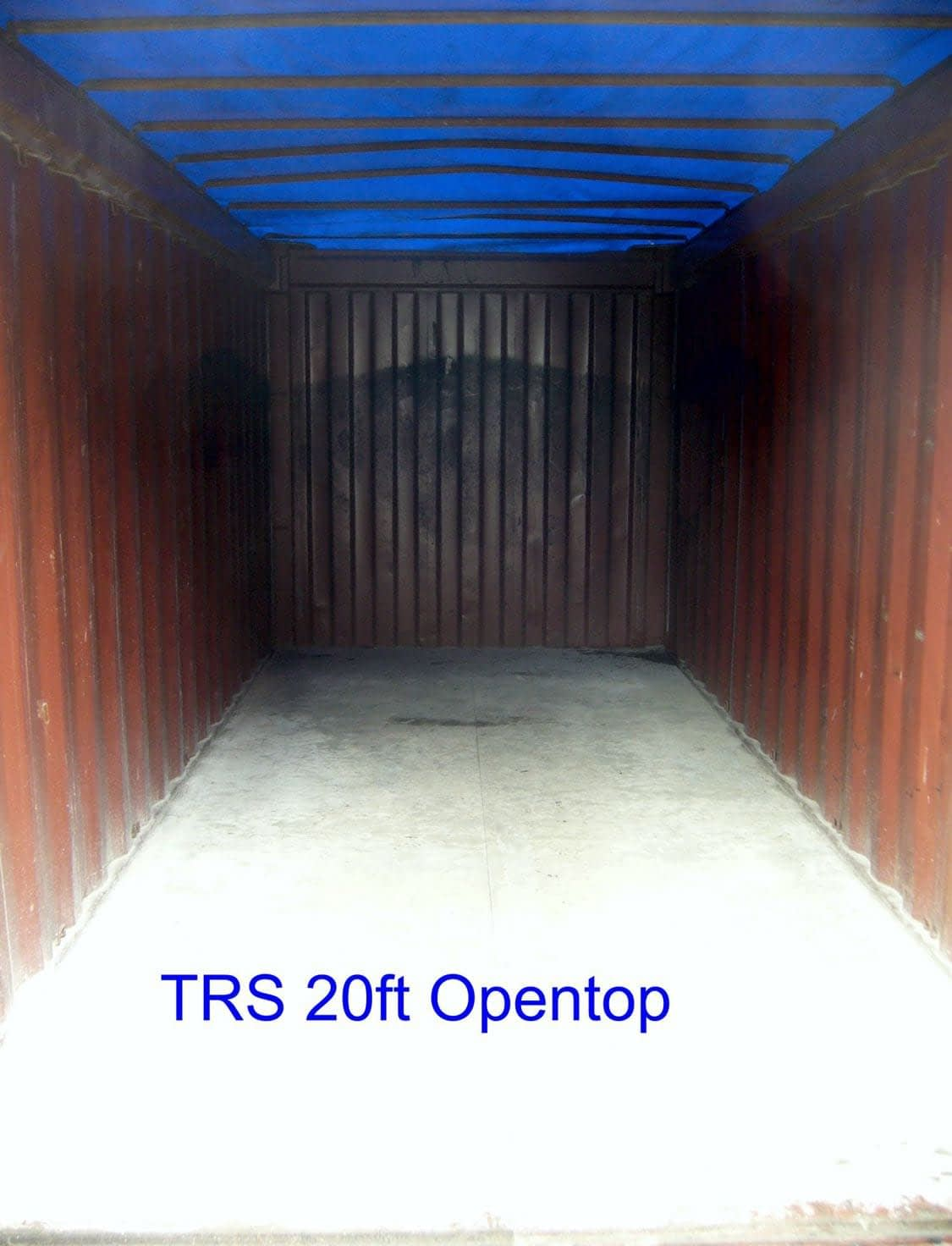 TRS sells and rents used 20ft canvas top opentops