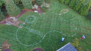 Outline of Custom Pool Plan on Grass