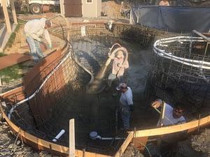 Men Working on Swimming Pool