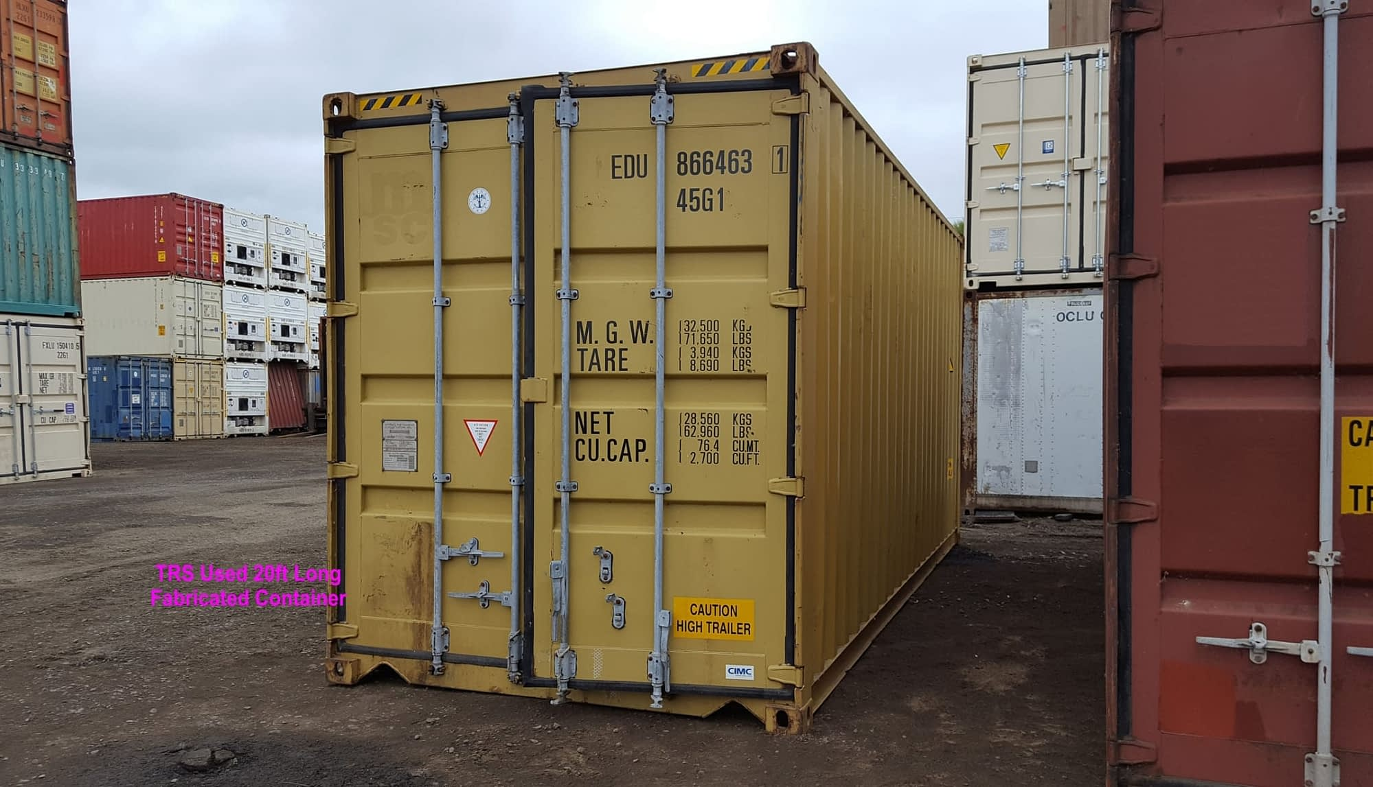 TRS Containers constructs 20 foot long steel highcbue containers
