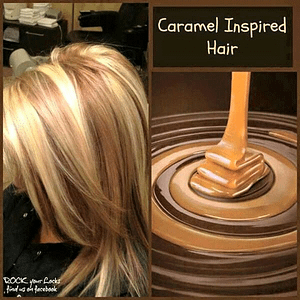 hair color that looks like caramel and chocolate