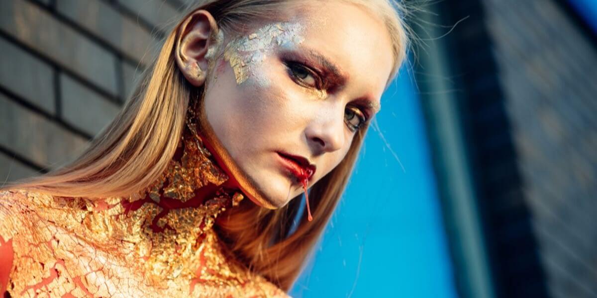 gold woman vampire