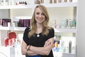 cosmetologist in a salon