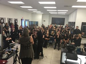Cosmetology Students Learn from Anthony Cole