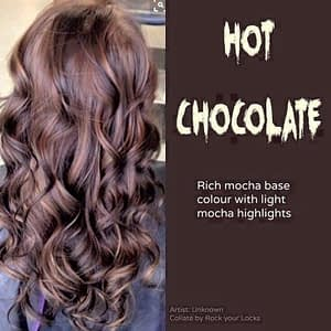 hair color that looks like hot chocolate
