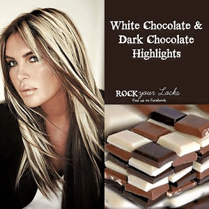 white and dark chocolate colored hair