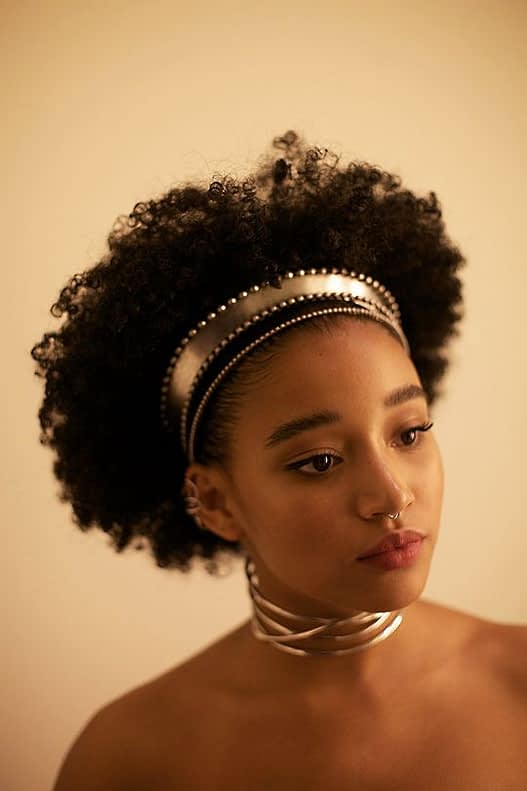 girl with natural hair in headband