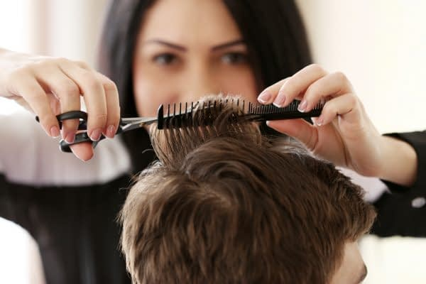 hairstylist with comb
