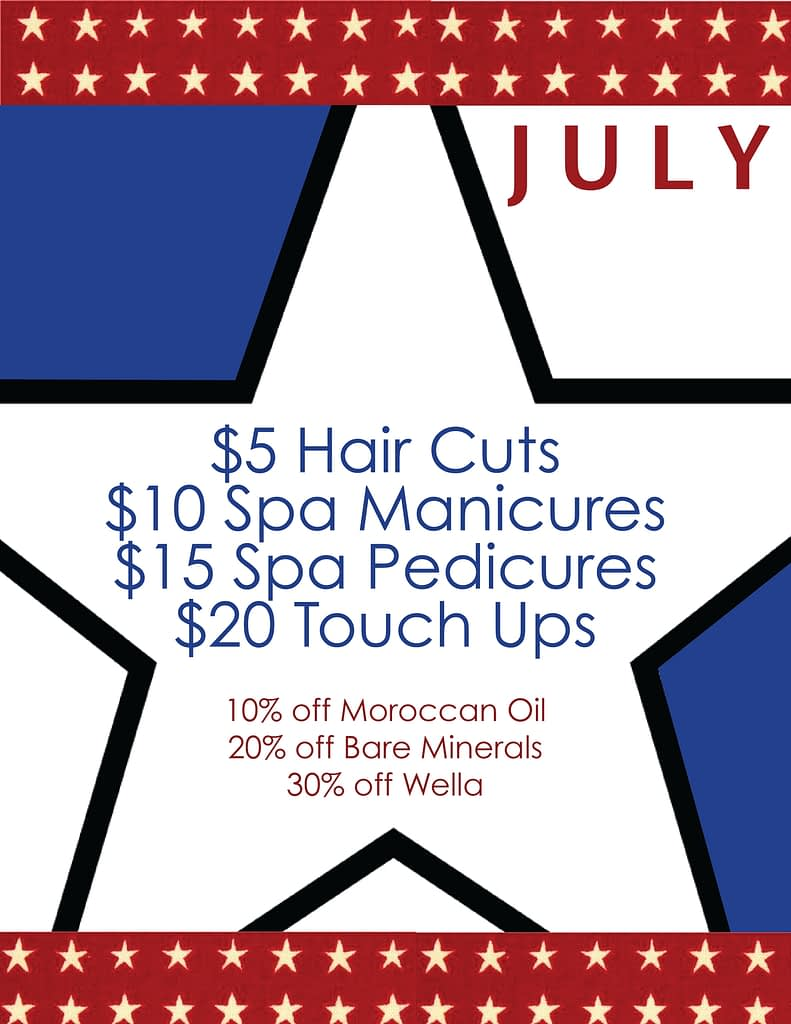 The services you want this summer for the fraction of the cost in our Student Salon!