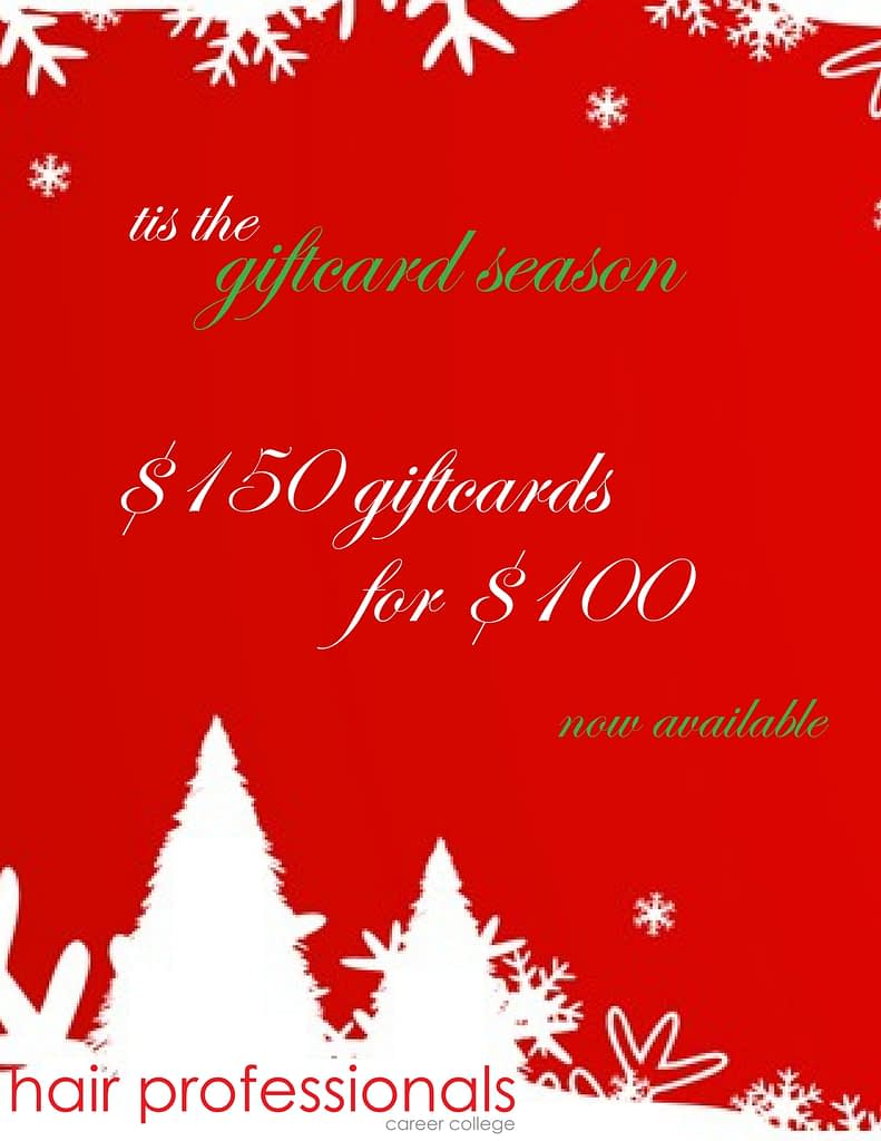 Hair Professionals Holiday Gift card Promotion