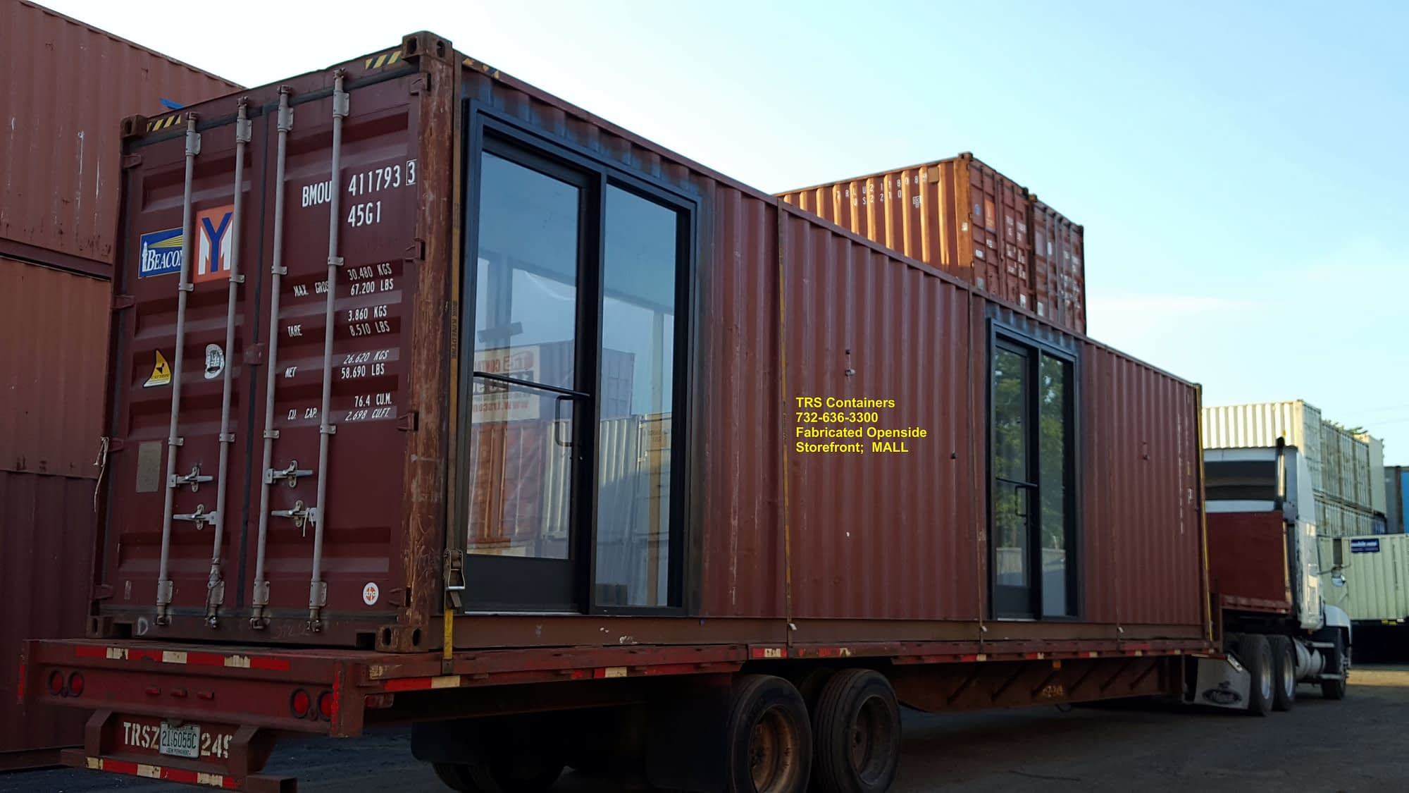 TRS Containers modified 30 cargo containers for a mall in Philadelphia.,