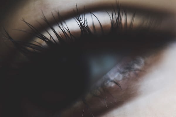 Close up of eyelashes
