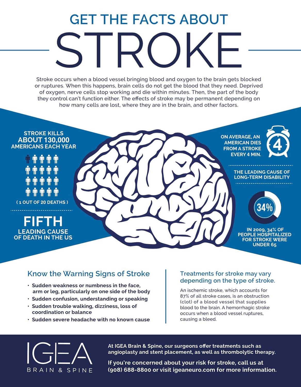 IGEA Brain And Spine: Stroke Infographic
