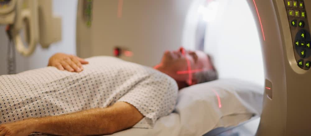 Patient undergoing CT scan