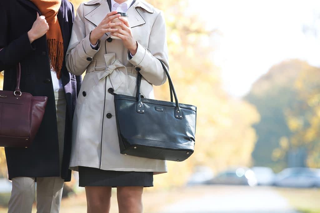 business women carry purse