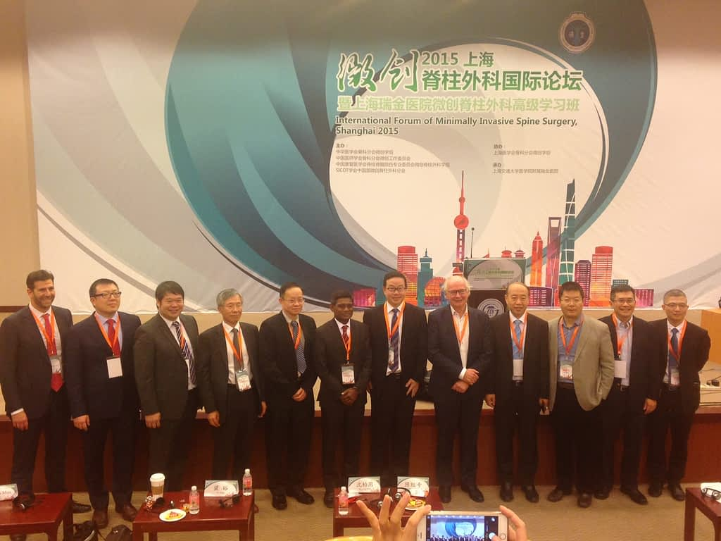 Group photo of attendees at Shanghai People's Hospital lecture