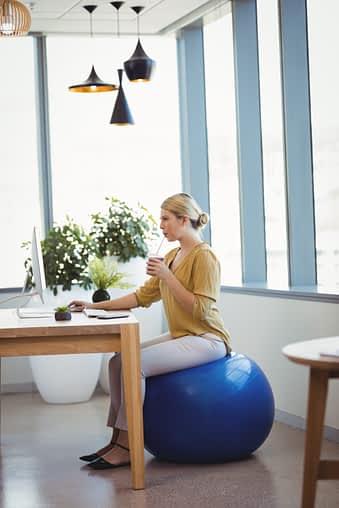 Exercise Ball vs. Office Chair
