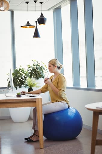 Exercise Ball vs. Office Chair