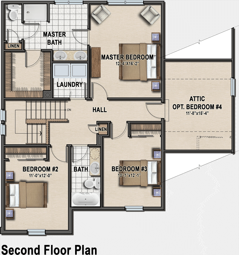 Plan A Traditioonal Simplicity Series first floor plan
