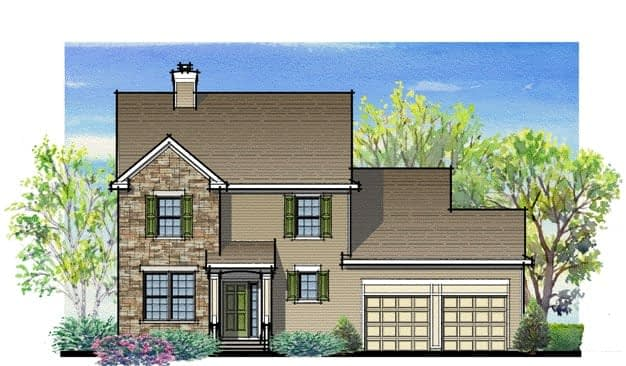 Plan A traditional Classic Front of House Drawing